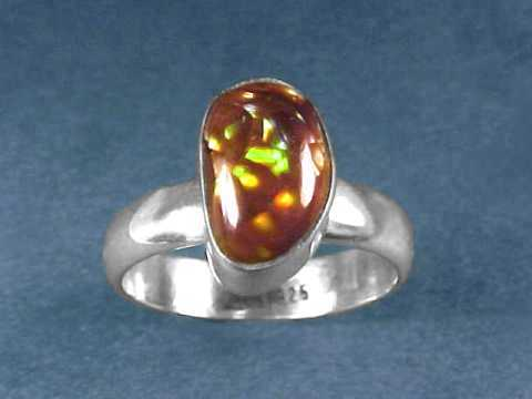 leather sterling silver Fire Agate Column Fire Agate gemstone