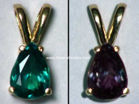 Alexandrite Jewelry: natural color change alexandrite jewelry