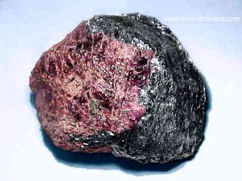 Almandine Garnet Mineral Specimens in Biotite-Sillimanite Schist Matrix