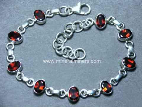 Garnet Bracelet January Birthstone Cut stone Garnet Bracelet Faceted Garnet Bracelet Red Bracelet Solid 925 Silver used garnet Jewelry.