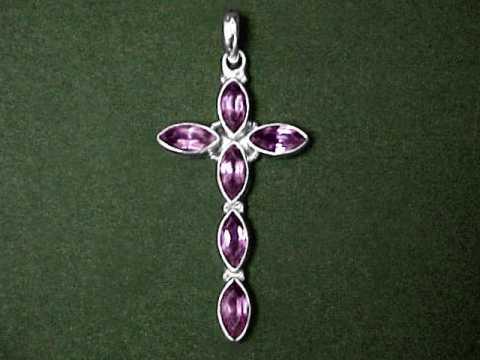 Gemstone cross pendants sterling silver cross jewelry with natural gemstone cross pendants and necklaces aloadofball Image collections