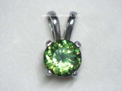 Demantoid Jewelry (a variety of andradite garnet)