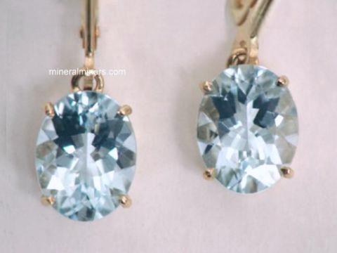 Aquamarine Earring: natural aquamarine earrings