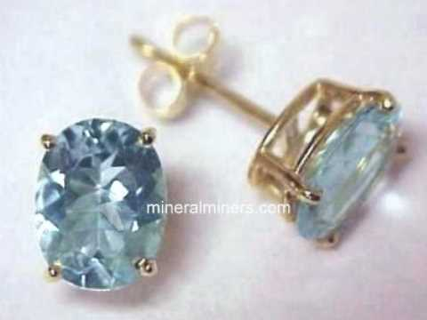 Item Aquj236 Aquamarine Earrings