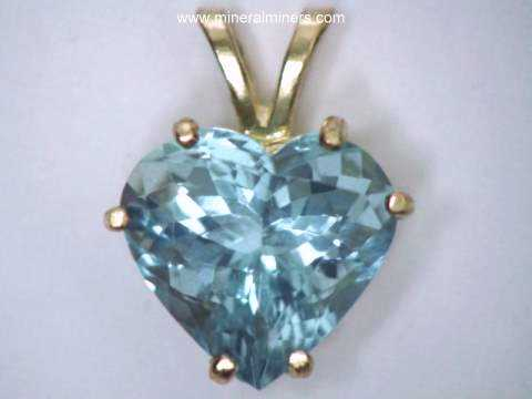 Aquamarine pendants natural aquamarine pendants 568 carat aquamarine heart pendant in 14k gold item aloadofball Gallery