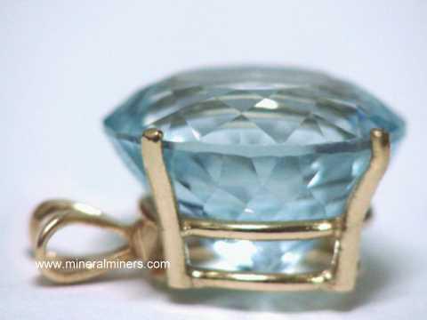 Aquamarine pendants natural aquamarine pendants item aquj554aquamarine jewelry aloadofball Image collections