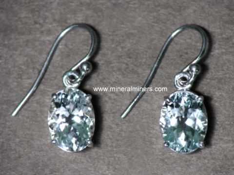 Aquamarine Earrings in Sterling Silver
