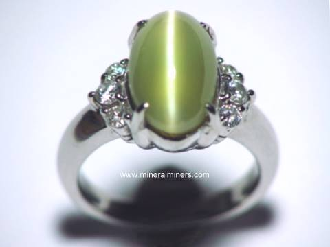 Chrysoberyl Cats Eye Jewelry