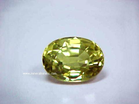 Chrysoberyl Gemstones Natural Chrysoberyl