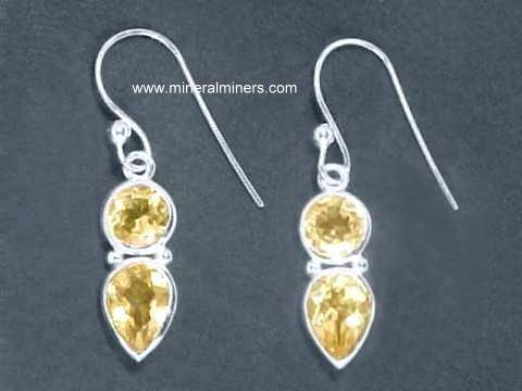 swarovski media spring citrine bridesmaid jewelry crystal wedding drop yellow lemon sterling bridal silver earrings