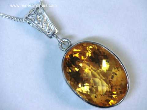 Citrine jewelry large citrine pendant in sterling silver item citj275 aloadofball Choice Image