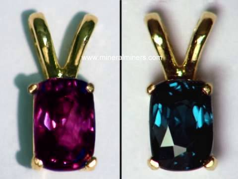 Color Change Garnet Jewelry