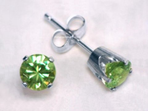 Demantoid Jewelry: Demantoid Earrings in 14k Gold