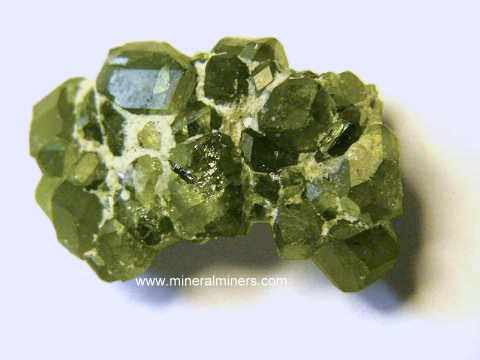 Demantoid Mineral Specimens