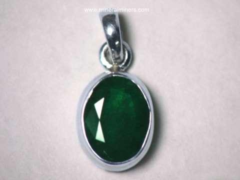 Emerald jewelry natural emerald pendants emerald rings emerald emerald pendant in sterling silver item emej217aemerald jewelry aloadofball Images