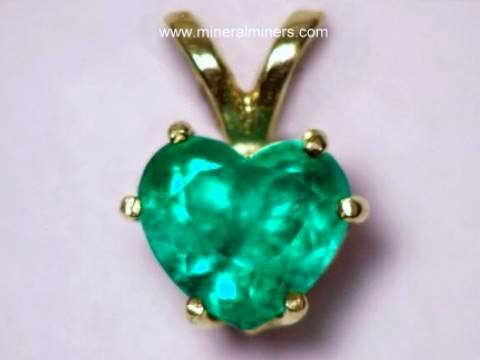 Emerald jewelry natural emerald pendants emerald rings emerald heart shape colombian emerald pendant in 14k gold item emej224emerald jewelry aloadofball Images
