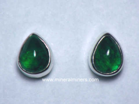 Natural Emerald Earrings