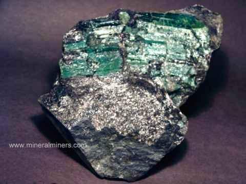 emerald crystals and emerald in matrix mineral specimens