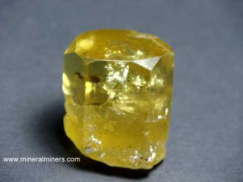 Natural Golden Beryl Crystal