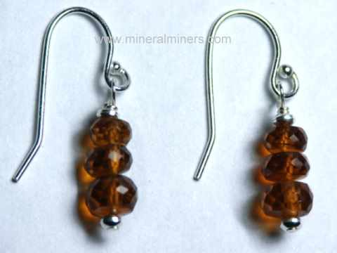 Hessonite Earrings