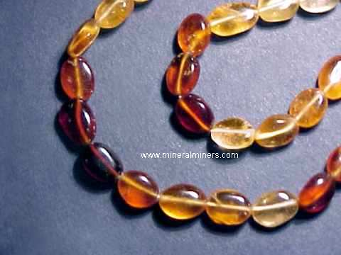 Hessonite Necklace