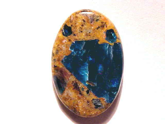 Cats Eye Blue Apatite in Jasper Gemstones