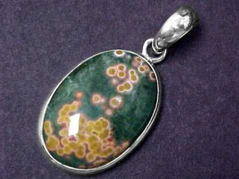 Jasper jewelry ocean jasper necklaces pendants rings bracelets ocean jasper pendant in sterling silver item jasj144 aloadofball Images
