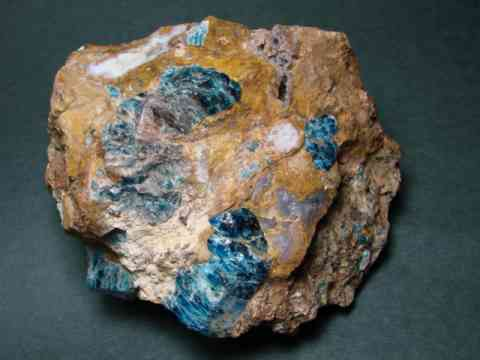 Cats Eye Blue Apatite in Jasper Lapidary Rough