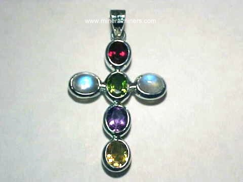 Gemstone Cross Necklaces