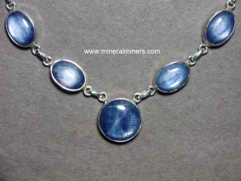 Kyanite Necklace: natural blue kyanite necklaces