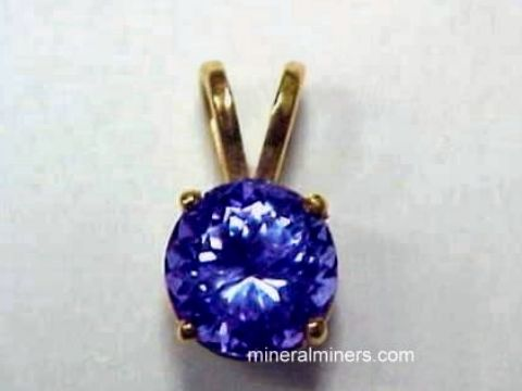 Tanzanite Jewelry: genuine tanzanite pendant in 14k gold