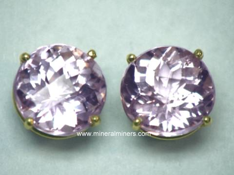Kunzite Jewelry Natural Pendants Necklaces And Earrings