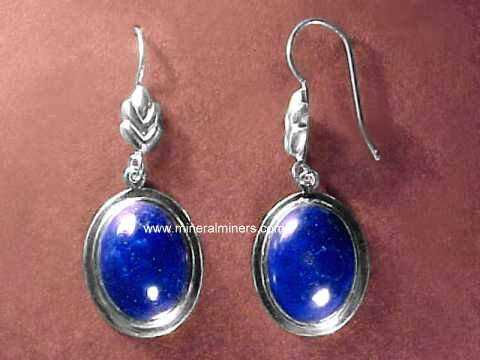 Click On Any Genuine Lapis Lazuli Earring Image Below To Enlarge It