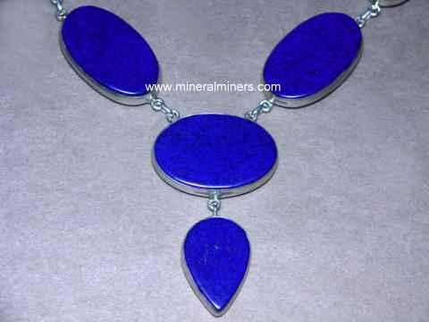 blue Lapis lazuli pendant lapis lazuli silver 2 stones pendant Lapis