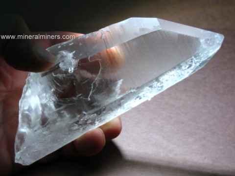 Rock Crystal Quartz Rough: natural quartz crystal carving & lapidary