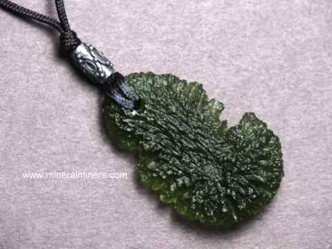 Molj467 Moldavite Necklace Jpg