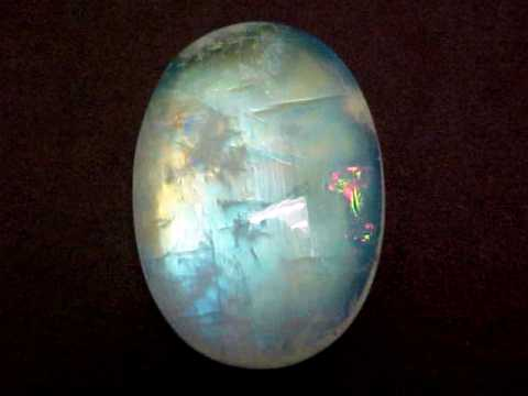 36X23X7 mm Natural Rainbow Moonstone Gemstone Oval Shape For Jewelry Making Stone Natural Rainbow Moonstone Cabochon