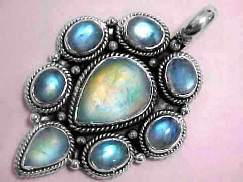 Moonstone jewelry natural rainbow moonstone blue moonstone extra large rainbow moonstone pendant item mooj360emoonstone jewelry aloadofball Images