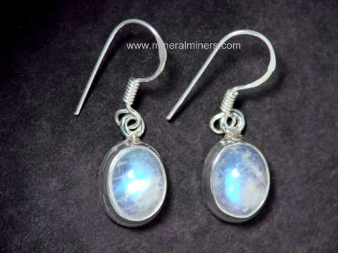 moonstone wire silver locking bloomingoak oval stone moon earrings design product sterling