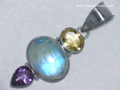 Moonstone jewelry natural rainbow moonstone blue moonstone item mooj478moonstone jewelry aloadofball Gallery