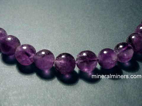 Gemstone Bead Necklaces - Rounded