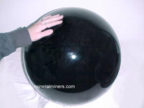 Very large obsidian sphere!