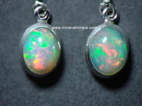 Opal Earrings: Natural Ethiopian opal earrings