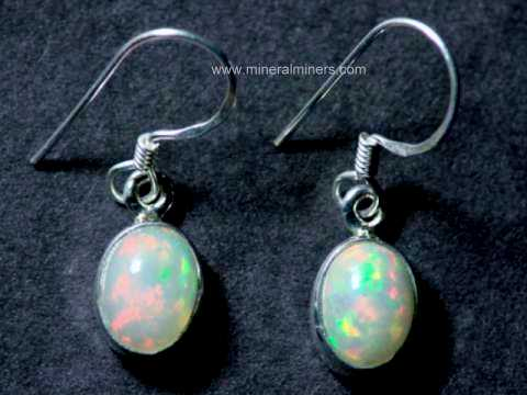 8x6mm Ethiopian Opal Earrings In Sterling Silver Item
