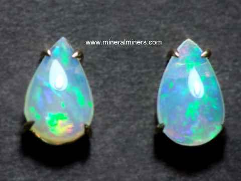 Natural Untreated Opal Earrings