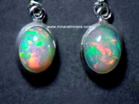 6mm Faceted Ethiopian Opal Gemstone Post Earrings with Sterling Silver