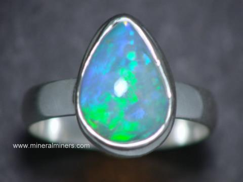 Opal Rings: Natural Ethiopian opal ring