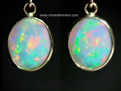 Opal Earrings: natural opal earrings