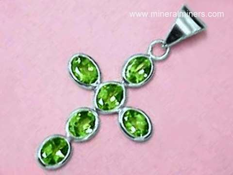 Gemstone cross pendants sterling silver cross jewelry with natural ex large peridot cross pendant item perj219 mozeypictures Gallery
