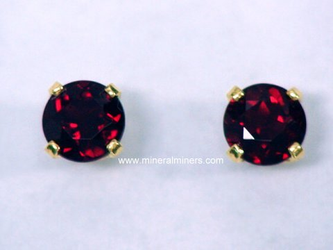 Pyrope Garnet Jewelry: Pyrope Garnet Earrings